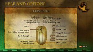 Controls layout screen