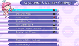 Keyboard and mouse settings