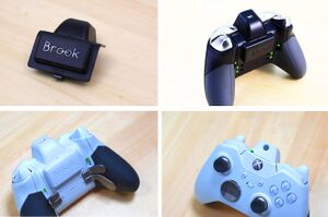 Xbox Wireless Controller with gyroscope via Brook X One Adapter EXTRA.