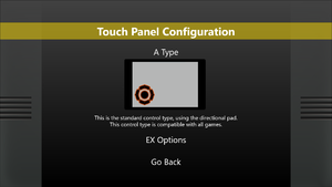 Touch controls settings.