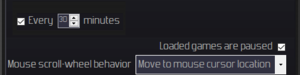 General gameplay settings.[Note 3]