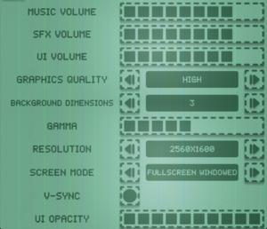 Audiovisual settings