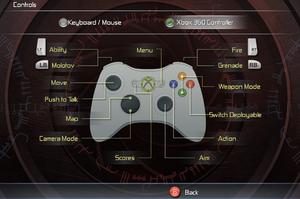 In-game XInput control scheme.