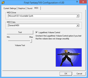 MIDI in Configuration.