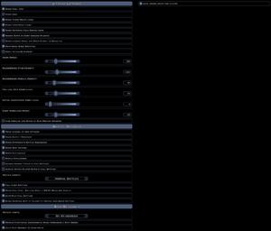 Interface settings.