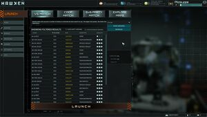 Server Browser in Hawken.