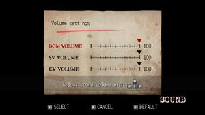 In game audio settings.