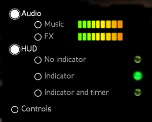 General in-game settings for Windows.
