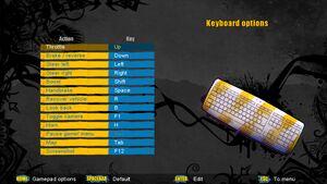 Keyboard input settings.