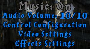 Audio settings