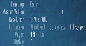Main settings.