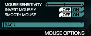 Control Mouse Settings.
