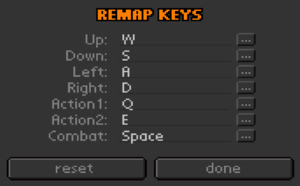 In-game key remapping.