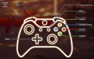 Menu controls (gamepad)