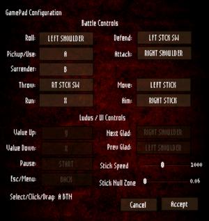 Gamepad configuration.