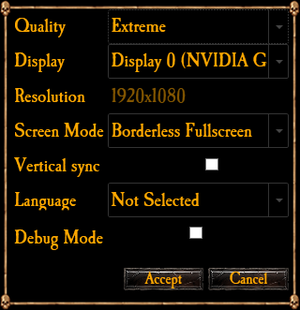 Launcher settings.