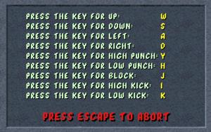 Key rebinding screen.