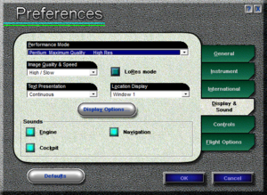 In-game sound preferences.
