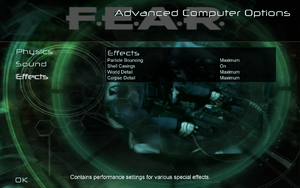In-game advanced video settings (for CPU).