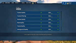 In-game Video Settings 2