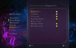 In-game audio settings 2.