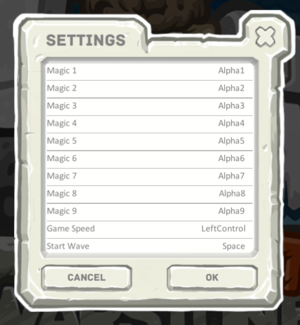 In-game hotkey settings.