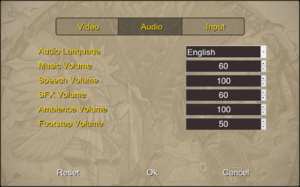 Audio settings (HD Remaster).