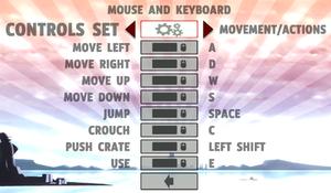 Keyboard rebinding.