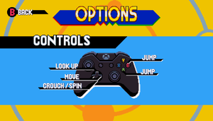 Controller layout for XInput compatible controllers.