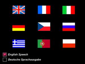 In-game language selection menu.