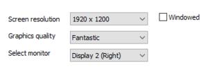 External graphics settings.