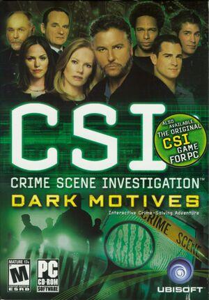 CSI: Dark Motives cover