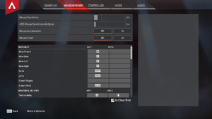 In-game input settings