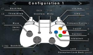 Gamepad configuration 1.