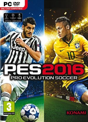 Pro Evolution Soccer 2016 cover