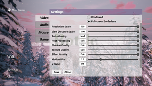 In-game video settings part 2.