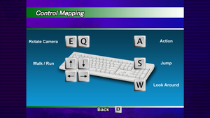 In game setting window for keyboard.
