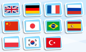 Language selection. Turkish is not yet available in the Amazon Games version.