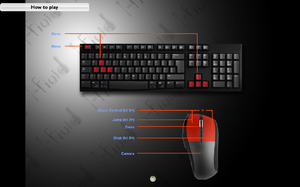 In-game keyboard/mouse layout.