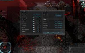 Controls settings in game.
