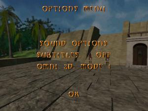 Options menu.