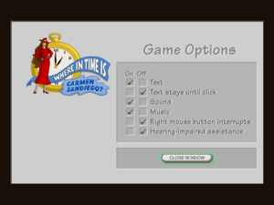Game options.