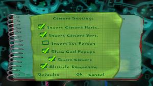In-game camera settings.