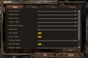 Advanced video settings (Vsync and 60Hz frequency not visible)