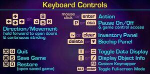 In-game keyboard controls (OS X).