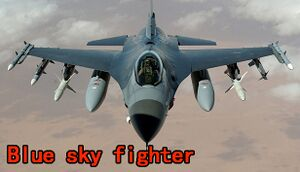 Blue sky fighter cover