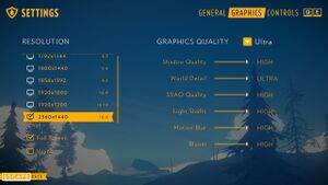 Ingame graphics settings.