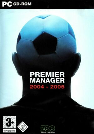 Premier Manager 2004-2005 cover