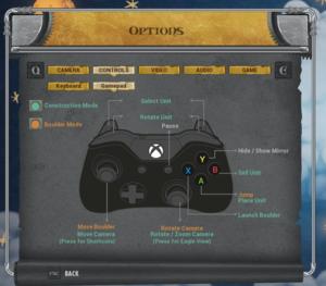 Control settings.