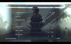 In-game general settings (1/2).